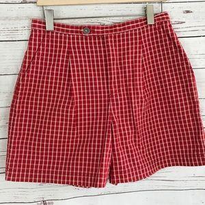 Vintage Red High Waist checkered Lizwear Petite